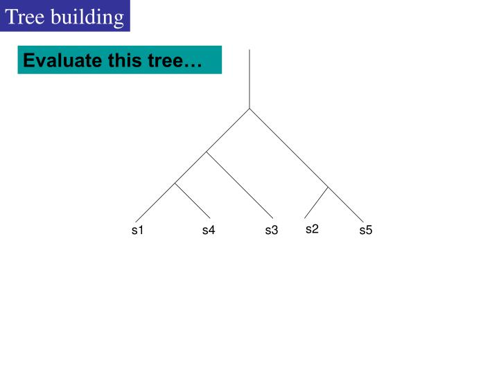 Tree building