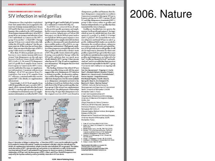 2006. Nature