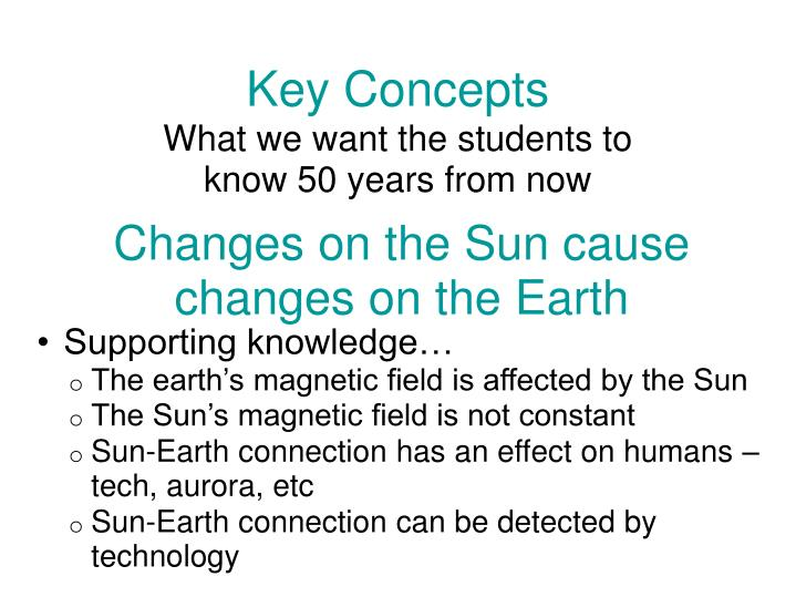 changes on the sun cause changes on the earth n.