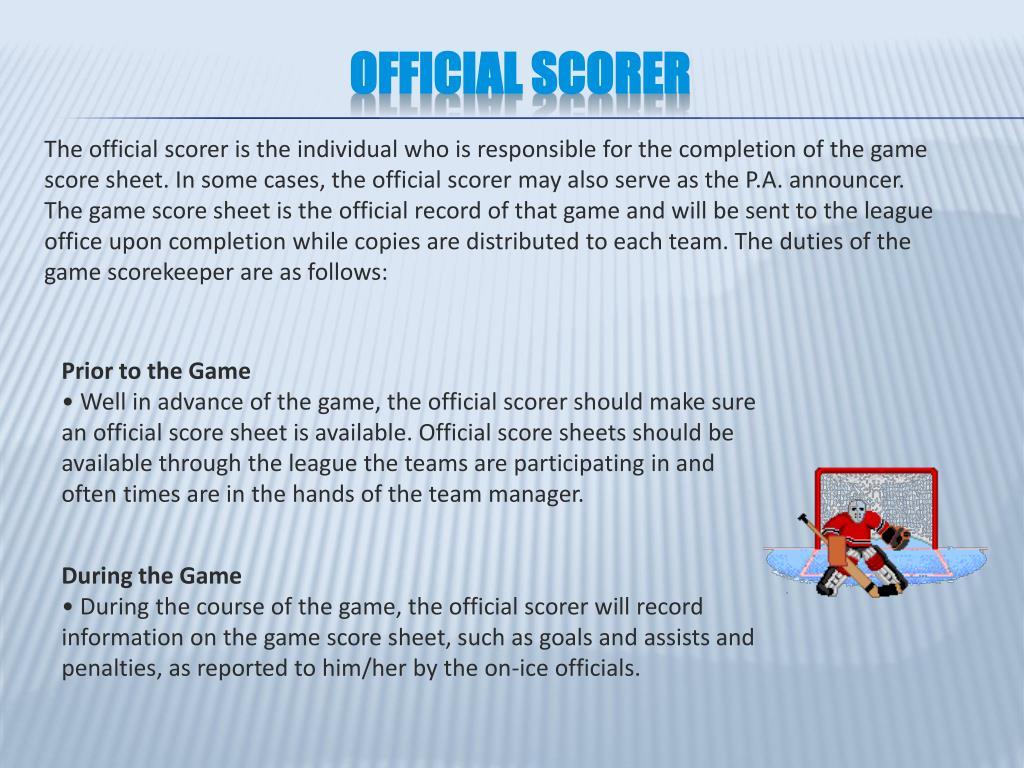 Official Scorer