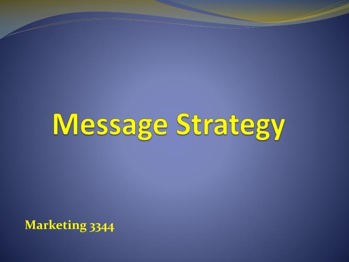 message strategy n.