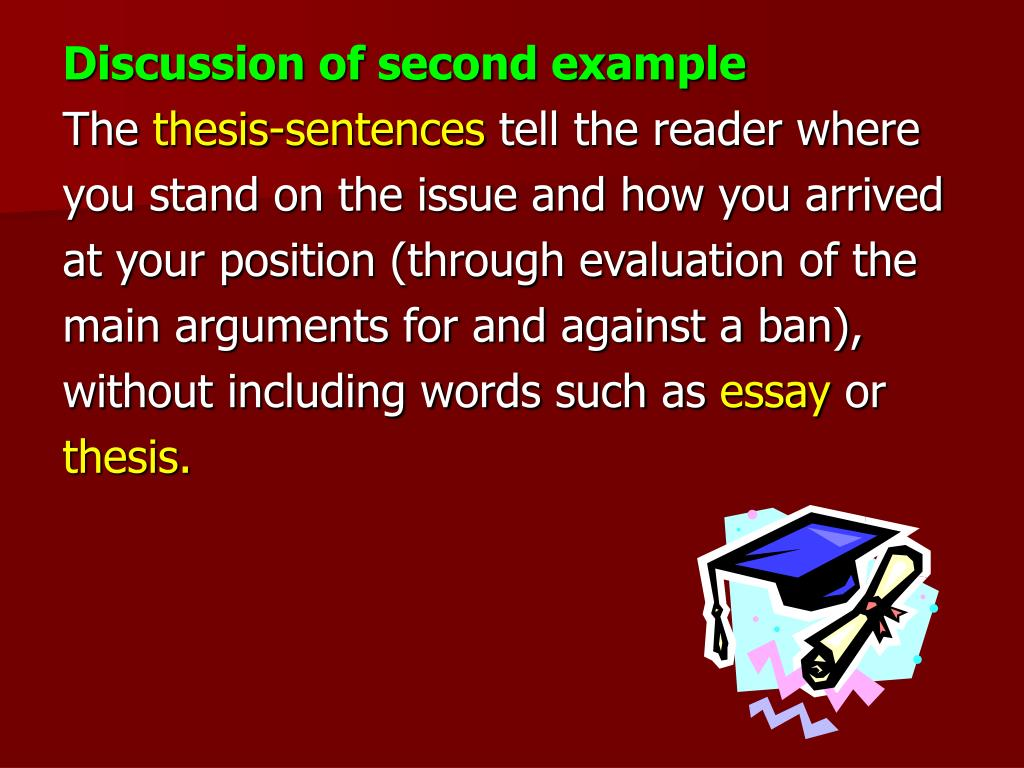 Discussion of second example