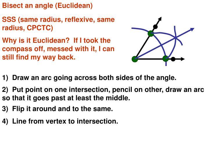 Bisect an angle (Euclidean)