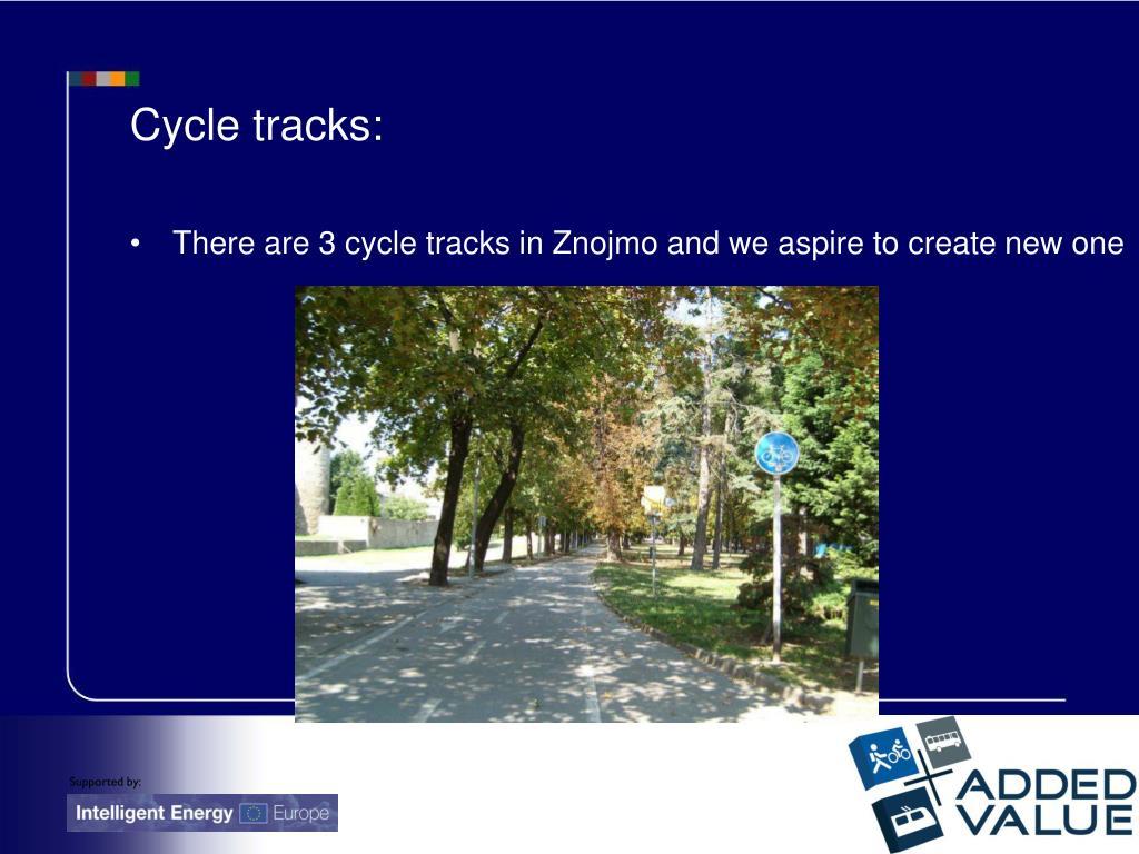 Cycle tracks: