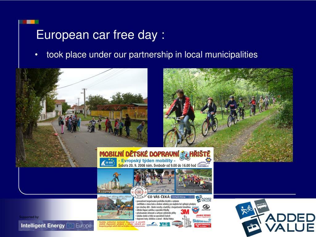 European car free day :
