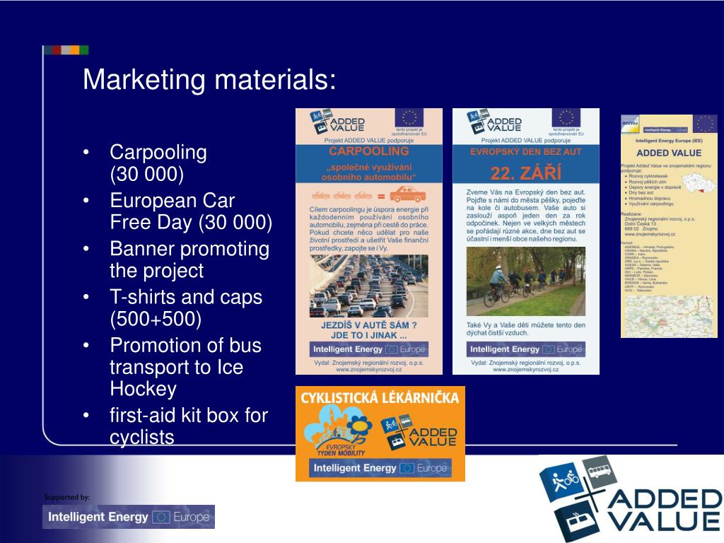 Marketing materials: