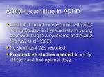 acetyl l carnitine in adhd