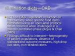 elimination diets oad