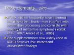 trace elements zinc