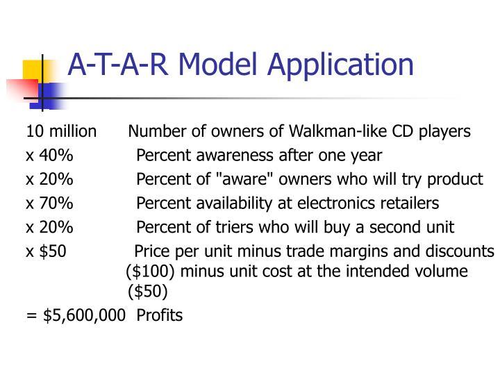A-T-A-R Model Application