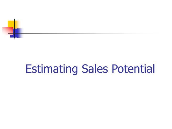 Estimating Sales Potential
