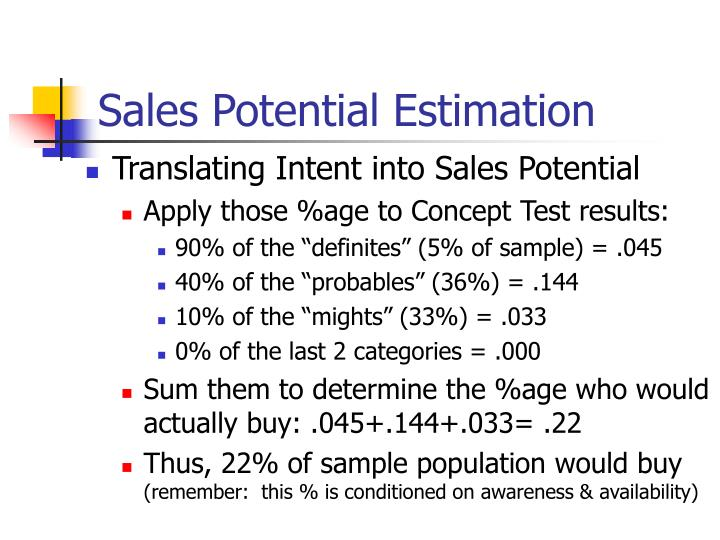 Sales Potential Estimation