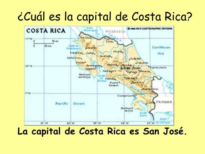 ¿Cuál es la capital de Costa Rica?