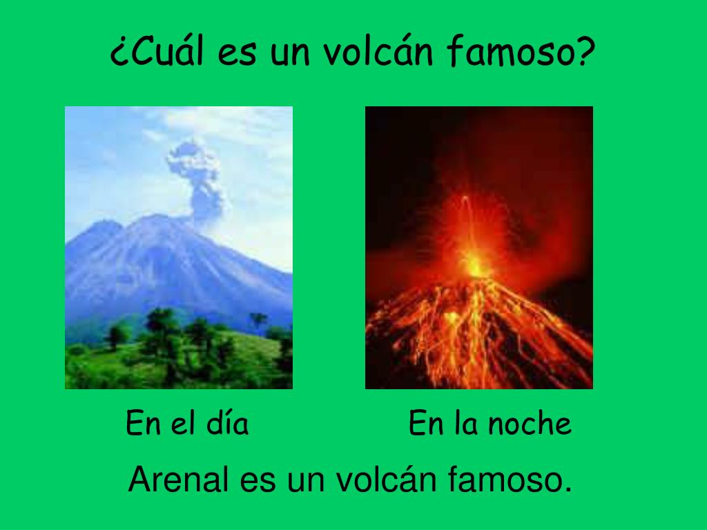 ¿Cuál es un volcán famoso?