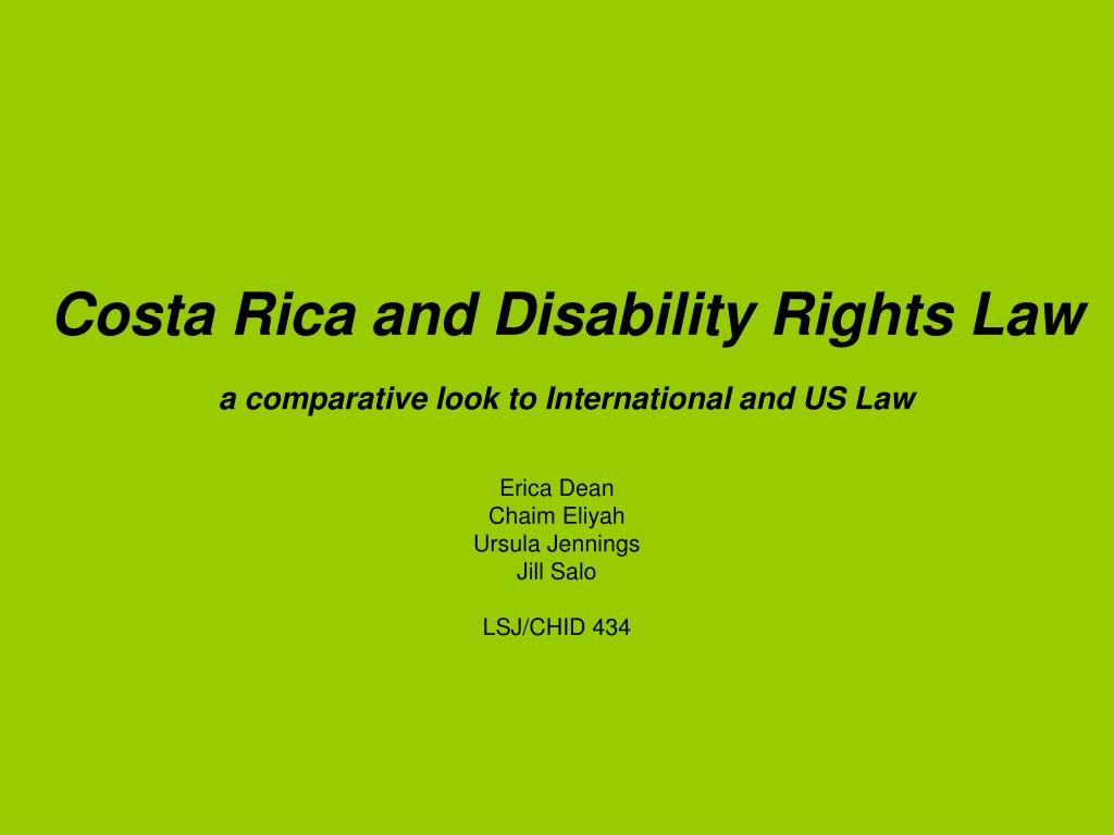 Costa Rica and Disability Rights Law
