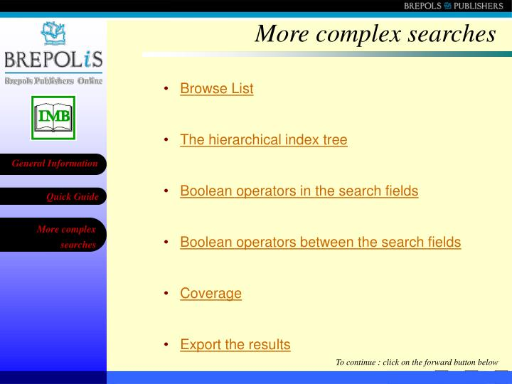 More complex searches