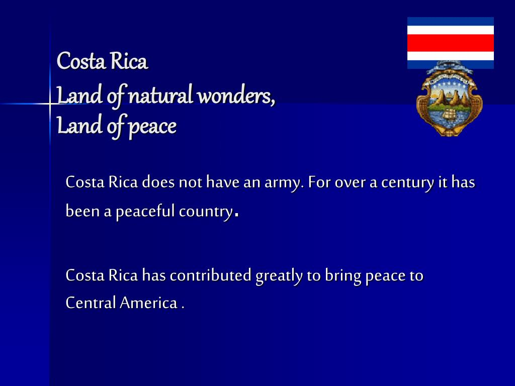 costa rica land of natural wonders land of peace l.