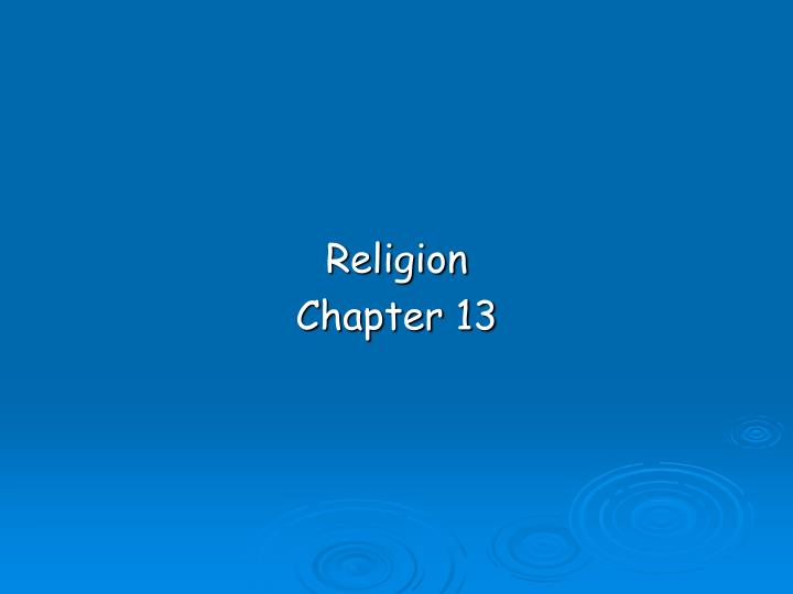 religion chapter 13 n.