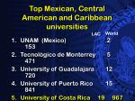 top mexican central american and caribbean universities