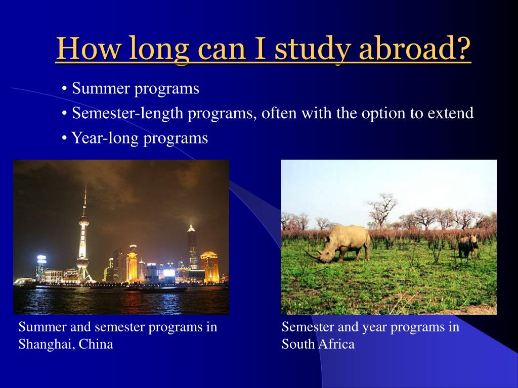 How long can I study abroad?