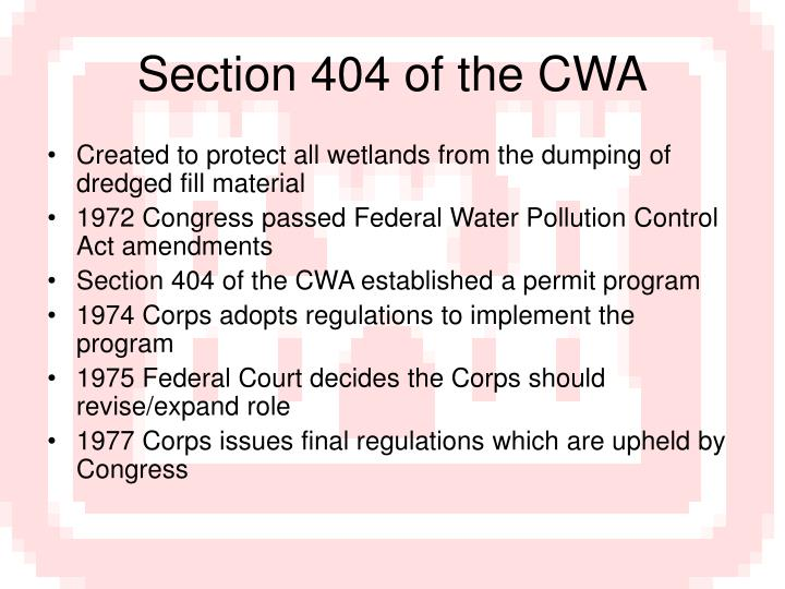 Section 404 of the CWA