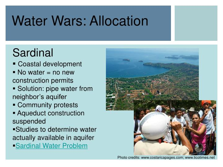 Water wars allocation