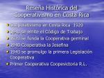 rese a hist rica del cooperativismo en costa rica