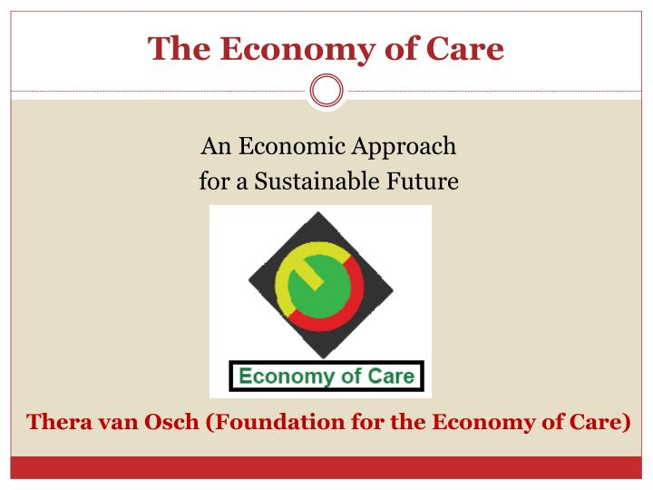 the economy of care n.