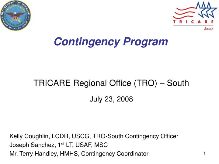 contingency program n.