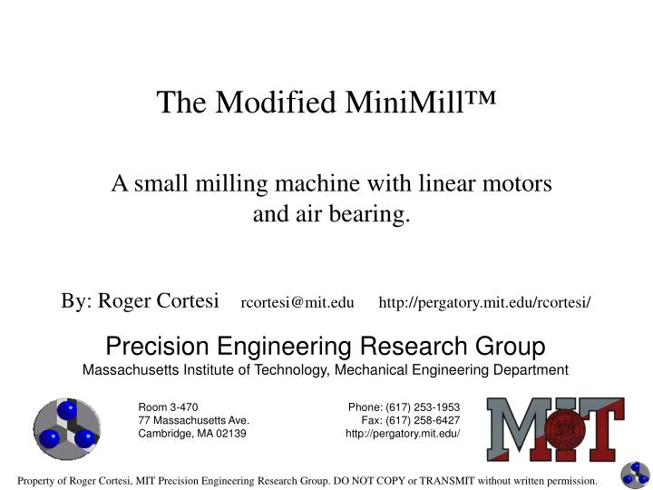 the modified minimill n.