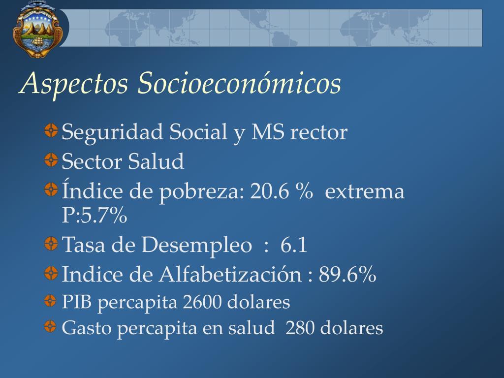 Aspectos Socioeconómicos