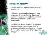 nuestra mision