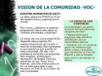 vision de la comunidad voc7