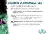 vision de la comunidad voc9