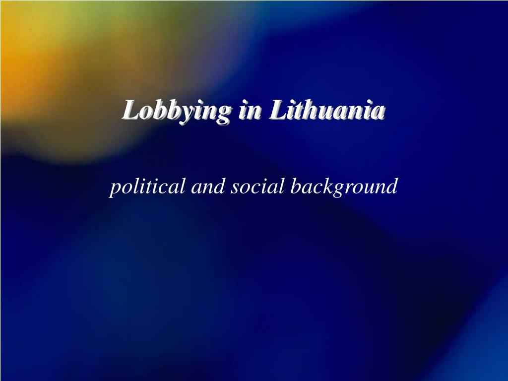 Lobbying in Lithuania