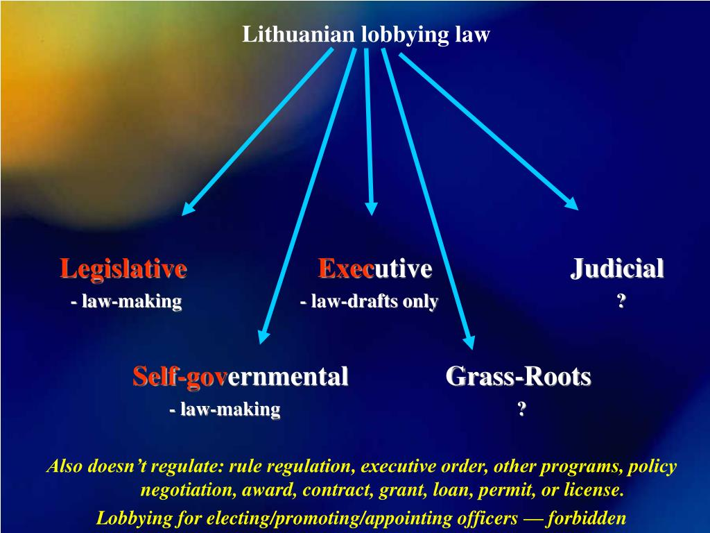Lithuanian lobbying law