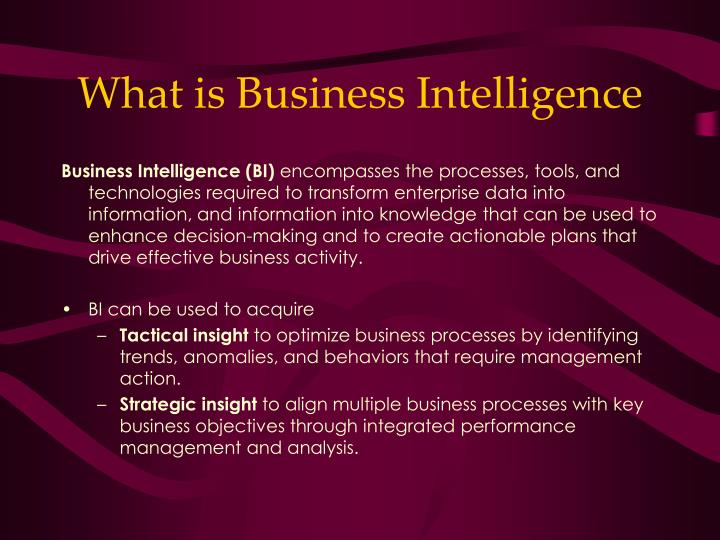 what is business intelligence n.