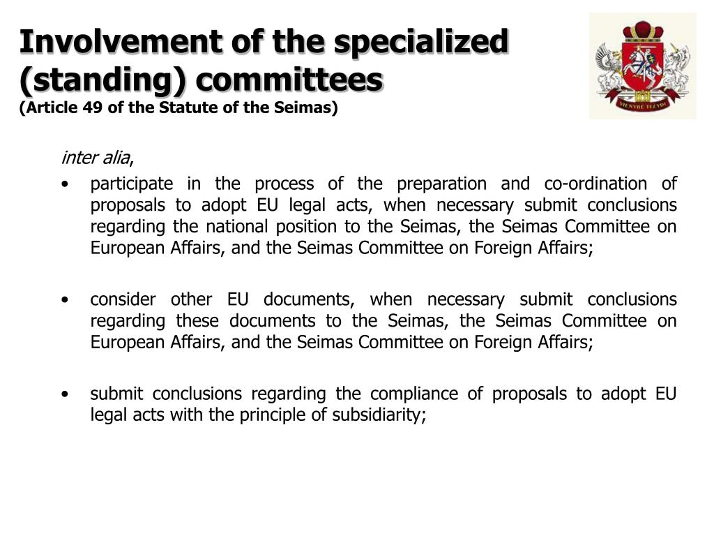 Involvement of the specialized