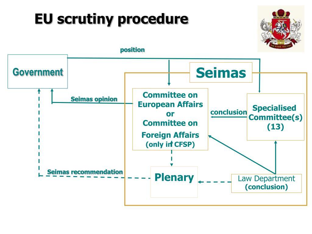 EU scrutiny procedure