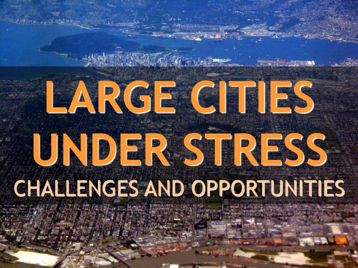 large cities under stress challenges and opportunities n.