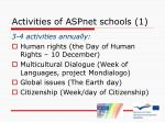 activities of aspnet schools 1