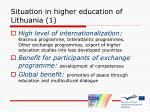 situation in higher education of lithuania 1