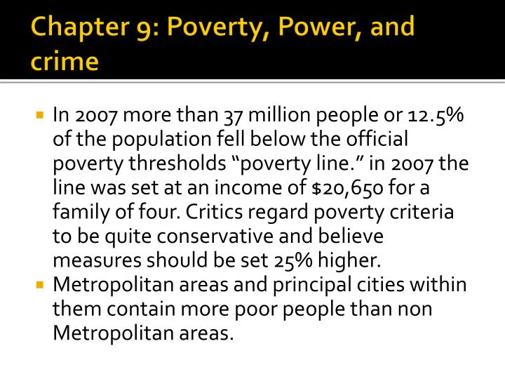 chapter 9 poverty power and crime n.