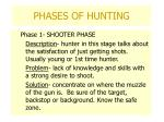 phases of hunting