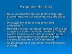 examine the text