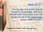malachi 2 7