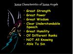 some characteristics of some angels4