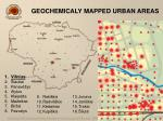 geochemicaly mapped urban areas