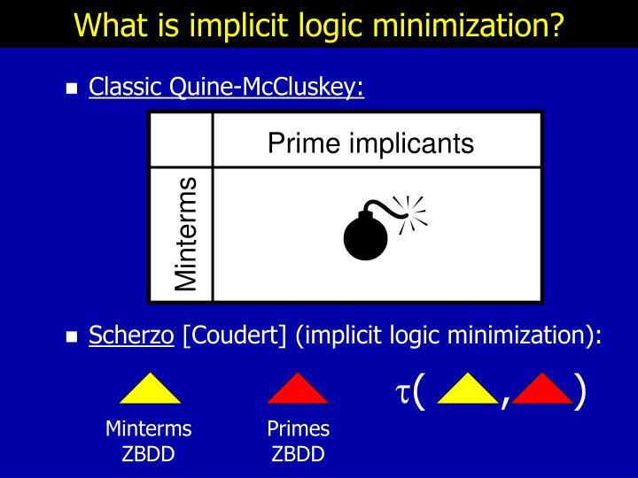 What is implicit logic minimization?