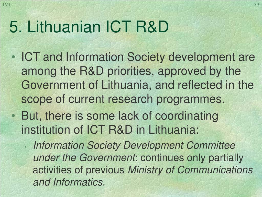 5. Lithuanian ICT R&D
